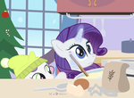 #dm29HolidayHorse Day 14: Rarity + Sweetie Belle by dm29
