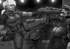 Shadowrun Warehouse Robbery by raben-aas