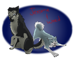 Jerome and Weed by Mana-ghostwolf