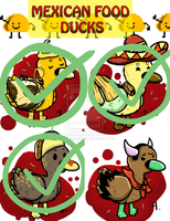Mexican Food Series Ducks Adoptables [CLOSED] by SBC-Adoptables