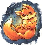 chibi fox sketch by michellescribbles