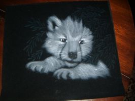 Wolf Cub Pyrography by Pagels