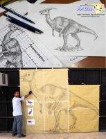 Parasaurolophus on process by artstain