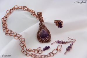 Copper and Amethyst Elven Set by Elehanne