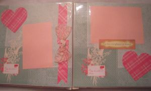 Pink Hearts Scrapbook Page by SkillfulCreations