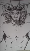 Oisin the Horned God by Dragon-Of-Sapphire