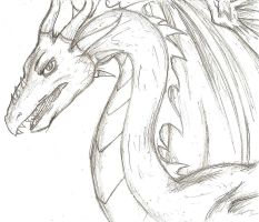 Dragon Sketch by 13anana