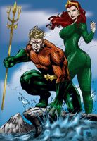 Aquaman and Mera by MarcBourcier