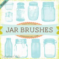 Vintage Jar Brushes by starsunflowerstudio