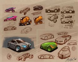 Vehicle Sketches by marcnail