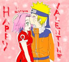 NaruSaku Valentines by Lawrielle21