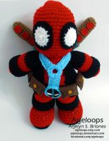 Deadpool Crochet Plushie by Arjeloops