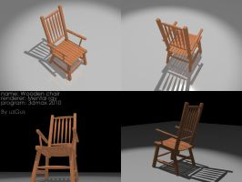 3d wooden chair by christ139