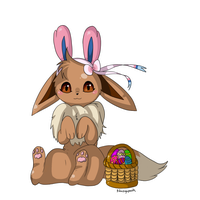 Happy Eevee Easter everyone! by foxlett
