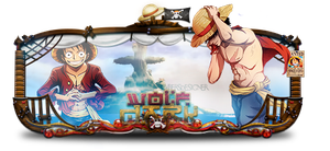 Sign Luffy V2 by DuffCD
