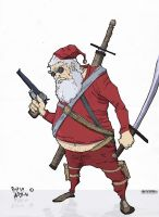 ARMED SANTA - COLORED by AlexDiotto