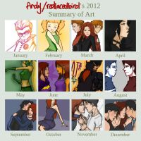 2012 Art Summary by redlacedbird