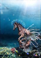 Hippocampus Pterois by fallengc