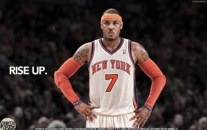 Carmelo Anthony Knicks Rise Up by Angelmaker666