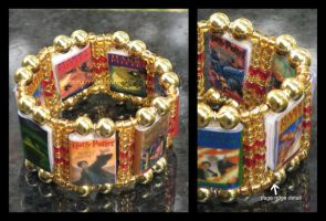 Harry Pottter Stretch Bracelet by maryfaithpeace