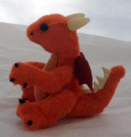 Mini Orange Dragon Plush by The-GoblinQueen