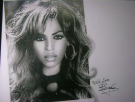 Beyonce's Illustration by magg1303