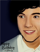 Gift Art 5: Harry Styles from One Direction by sleepyzebra