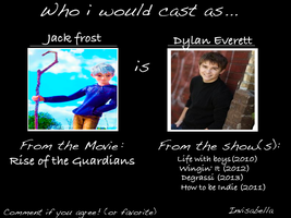 Who i would cast as Jack frost by invisabella