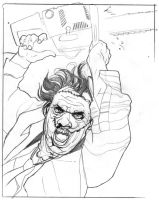 Leatherface sketch 1 by gatchatom