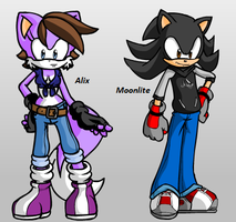 Sonic OCs  :Alix and Moonlite: by GingaGirl86
