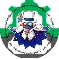 Count Bleck Chibi Badge by RedPawDesigns