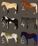 Natural and Unnatural Horse Adopts - OPEN by TuttibirdArts