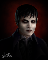 DarkShadows Barnabas Portrait - Contest Entry by Distractus