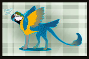 .:Macaw Griffon:. AUCTION .:CLOSED:. by ProtoSykeLegacy