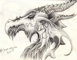 dragonface by daisyamnell
