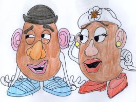 Toy Love:Mr+Mrs Potato Head by DitaDiPolvere