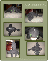Toothless Plush by TamHorse