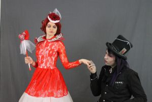 The Red Queen and the Mad Hatter 9 by MajesticStock
