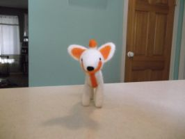 reverse needle felted fox by imaginaryfriends2012