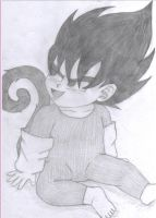 Baby Vegeta, the tiny prince by gothgirl9678