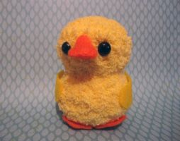 Amigurumi Yellow Fluffy Duckie by AmiTownCreatures