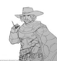McCree Sketch by 2dBaker