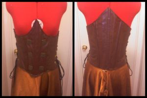 Bard's Leather Bodice by Mink-the-Satyr