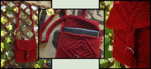 Crocheted Messenger Bag/iPad Bag by ThePeculiarMissE