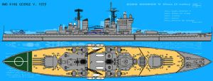 HMS King George V. 1979 by linseed