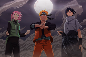 Sakura, Naruto And Sasuke  - '' Team 7 Is Back'' by Ricardo9Tomate