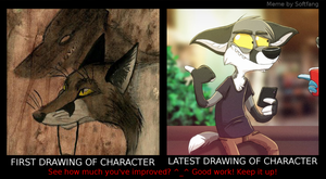 Character development meme by Zerda-Fox