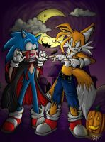 Happy Halloween From Sonic and Tails by b1uewhirlwind