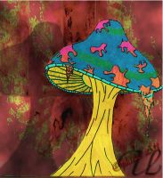 black light Shroom by OphicusArts