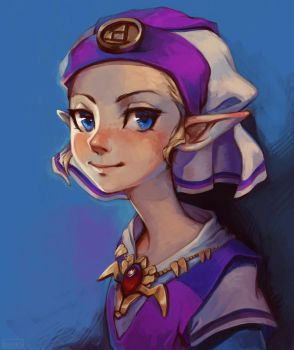 Princess Zelda by lulles